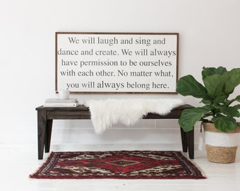 You Always Belong Here - Wood Sign