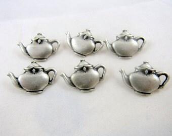 Metal Teapot Button 26mm x 18mm