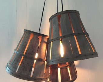 Farm Basket Pendant Light