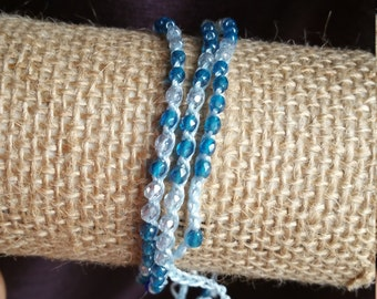 Czech Glass Wrap Bracelet