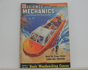 Science and Mechanics Magazine, October 1950 - Great Condition - Fascinating Articles, Hundreds of Vintage Ads, Harley Davidson 125 Ad