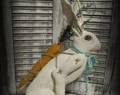 Primitive-Easter-Hare-Bunny-Rabbit-Doll-Folk-Art-Rabbit-Spring-Decor