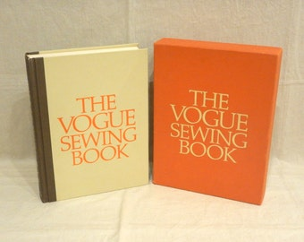 1970 Vogue Sewing Book First Edition w/ Slip Cover Case First 416-pages Hardcover