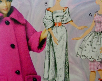 "McCall's Pattern M7301 barbie Doll  Clothes and Accessories for 11 1/2"" Doll-uncut"
