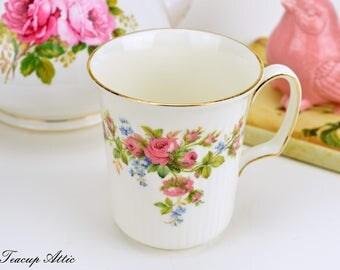 Royal Albert Moss Rose Mug, Vintage English Bone China Mug, ca. 1956-2001