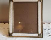 Vintage Gold Picture Frame Ornate Easel Back 8 x 10 Metal Frame Mid Century 1960's