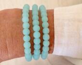 cultured sea glass bracelet, beach jewelry, nautical jewelry, sea glass jewelry