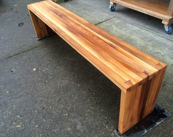 Reclaimed Red Cedar Dovetailed Bench