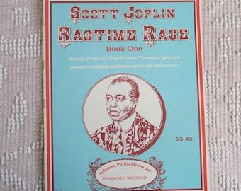 Vintage Music Book Scott Joplin Ragtime Rage Book 1 Sheet Music