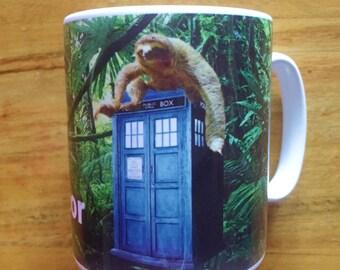 Doctor Who Tardis Sloth Jungle Mug