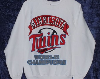 White 1987 Minnesota Twins World Champions Sweatshirt Medium #2