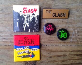 The Clash Vintage Pin Set