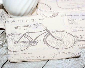 French Bicycle Coasters, Set of 4