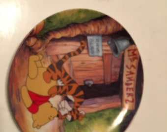 hello pooh collector plate fun in 100 acre woods