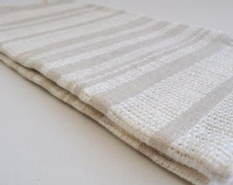 Turkish Towel Peshtemal towel Cotton Peshtemal Stone washed wicker striped ivory Towel pure soft, genuine handloomed