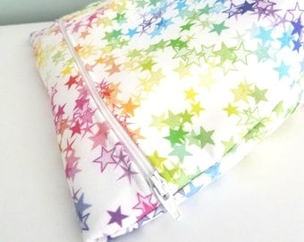 Star Makeup Bag - Modern Makeup Bag - Bridesmaid Gift  -  Cosmetic Bag - Waterproof Bag - Kawaii Fabric