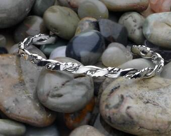 Argentium Sterling Silver Twisted Cuff Bracelet