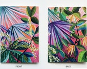 A5 recycled notebook- pink tropicalia