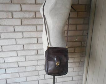 Spring Sale Vintage Brown Coach Satchel Messenger Cartridge Crossbody Bag Purse 80s