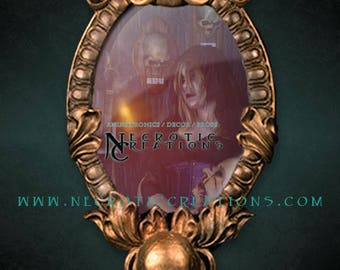 Gothic Cameo Frame Mirror
