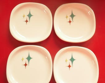 4  Atomic Bread Butter Plates - Restaurant Ware - Syracuse China - Jubilee Pattern