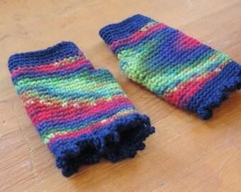 Northern Lights || fingerless mittens || wool