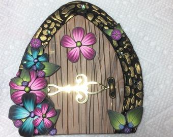 Fairy Door miniature pixie door gnome hobbit tooth fairy handmade fairy garden accessory colorful woodland