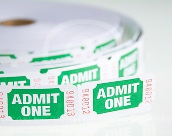 Raffle Ticket Photo, Photo of Event Tickets, Ticket Clipart, Admit One Ticket Photo, Ticket Roll Photo, Instant Download, Stock Image,