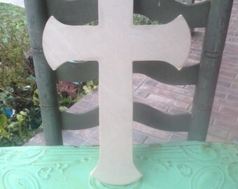 Medium Unfinished Wooden Cross Style D, Unpainted Wood Cross, Paint a Cross, Do It Yourself Cross