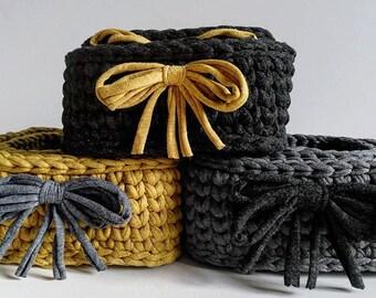 SALE, Crochet basket, Storage Basket, Decorative baskets, Home Decor, Jewelry Dish, Organization Storage