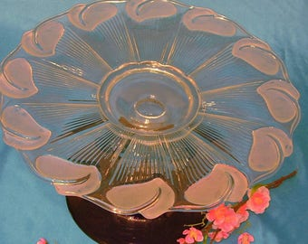 """Wedding cake stand. Deep Purple glass cake stand. Large cake plate. """"The Lyla"""" is made of re-purposed glass and crystal."""