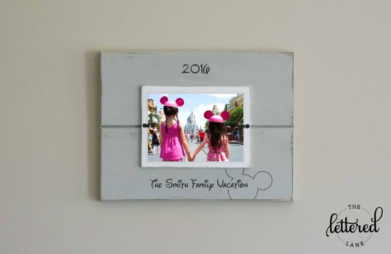Disney Vacation Picture Frame, Personalized Family Frame, Christmas Gift, Family Vacation, Love Laugh Disney, Disney Family Gift