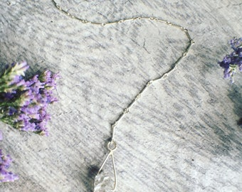 Herkimer Diamond Lariat Style Necklace
