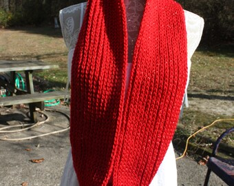 Red Cowl with Metallic Red highlights- Free Shipping