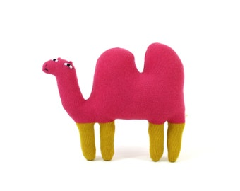 Sandy the Camel - soft knitted lambswool toy, kids toy, plush toy