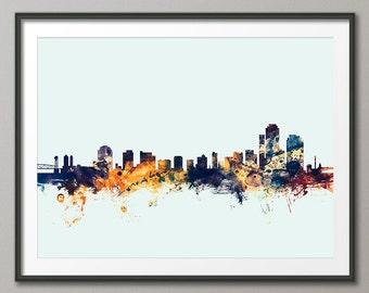 Wilmington Skyline, Wilmington Delaware CityscapeArt Print (2572)