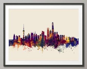 Shanghai Skyline, Shanghai China Lujiazui Cityscape (2648)