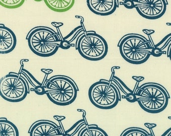 20% Off Sale Little Things ORGANIC Cream/Sky Bicycles by Arrin Turnmire for Moda - One Yard - 14091 21
