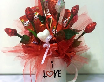 I love you Candy Bouquet, custom created
