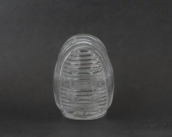 Antique/Vintage Hendryx Glass Art Deco Bird Cage Feeder