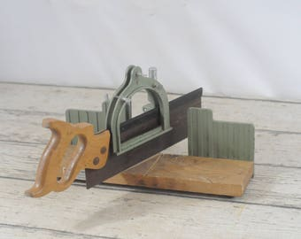 Adjustable Miter Box Hempe Model No 3619 With Warranted Superior Saw