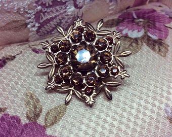 Topaz Flower Brooch