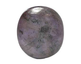 Star Ruby Sapphire, Wine color Polished Chatoyant Gem Stone, Genuine Precious Geo Gemstone, DIY Ruby Jewel 2 sides, Jewelry making, Talisman