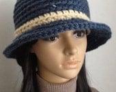 Winter Hat...Hand Crochet Cloche Hat.... Tweed Women's   Hat.....Crochet Hat