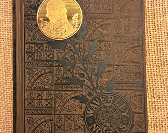 "Early 1900s Vintage Edition of ""Kenilworth"" by Sir Walter Scott, part of the Waverly Novels Series"