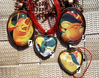 2nd Gen Starter Evolutions! Glass Pendant Charm made from Trading Cards