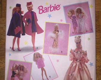 Simplicity 7601 Sewing Pattern Wardrobe for Barbie Dolls OOP