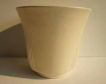 Large Mid Century Modern Art Pottery Planter Cream Pottery
