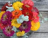 Flower Seed Kit, Garden Plant Kit, Heirloom Seeds, Cut Flower Garden, Gift Box Great Gift for Gardener or Gift for Mom