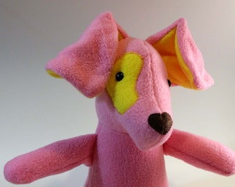 Pink Puppy 18in Plush Dog Doll